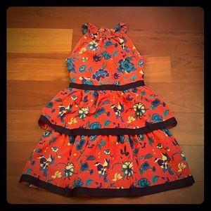 NWOT Janie & Jack Silk Floral Tiered Dress